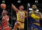 Jordan, el mejor de siempre; LeBron, por encima de Magic