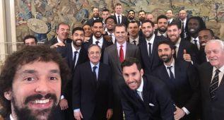 El Rey recibe en La Zarzuela al Real Madrid campeón de Copa