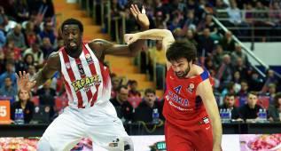 El Madrid, interesado en el pívot del Olympiacos Othello Hunter