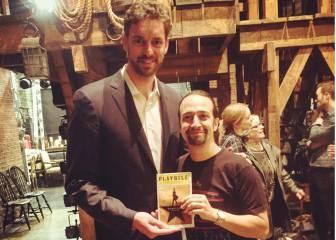 Pau Gasol se relaja en NY con un musical y desde las alturas