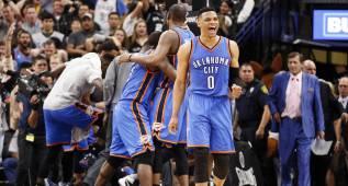 ¡Hay vida en OKC! Westbrook y Durant superan a Aldridge (41)