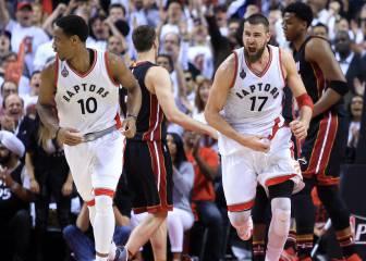 Valanciunas rescata a Toronto ante los Heat de las 21 pérdidas