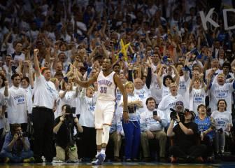 Durant se crece y los Thunder vuelven a Texas con el 2-2