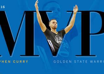Curry repite como MVP y supera a Kobe, Shaq, Olajuwon...