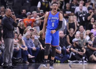 Westbrook (35+11+9) deja a los Thunder a un paso de la Final