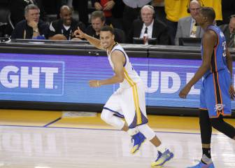 Dos minutos mágicos de Curry (28) empatan la eliminatoria: 1-1 y rumbo a Oklahoma City