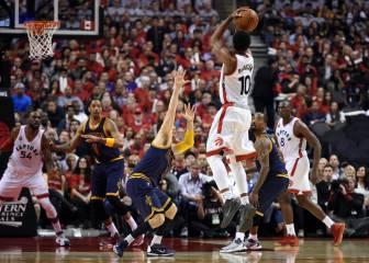 DeRozan y Biyombo infligen la primera derrota a los Cavs de LeBron en Playoffs (10-1)