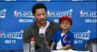10 niños NBA que le roban a sus padres todo el protagonismo en la rueda de prensa