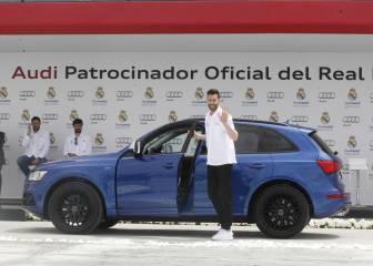 Los jugadores del Real Madrid estrenan Audi
