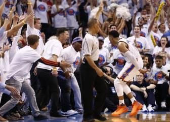 Warriors, contra las cuerdas: OKC acaricia las Finales con Durant y Westbrook (36+11+11)