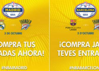 Real Madrid y Barcelona, 4-4 contra equipos NBA en España