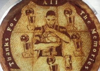 El tributo a Tim Duncan... en forma de pizza personalizada