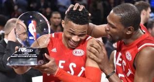 """Russell Westbrook está """"dolido y enfadado"""" con Kevin Durant"""