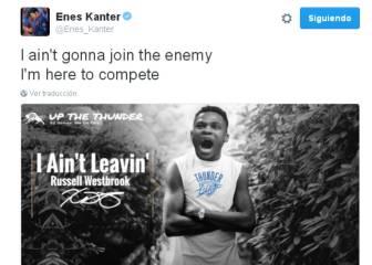 Renueva Westbrook y Kanter lo usa para 'atacar' a Durant