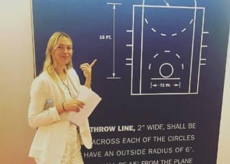 La suspendida Sharapova... ¡nueva becaria de la NBA!