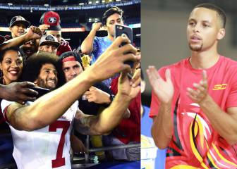 Curry, con Colin Kaepernick: