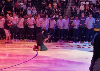 Lakers y Nuggets, cogidos del brazo por la injusticia racial