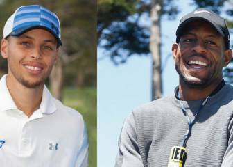 Curry e Iguodala muestran sus dotes para el golf: ¡vaya swing!