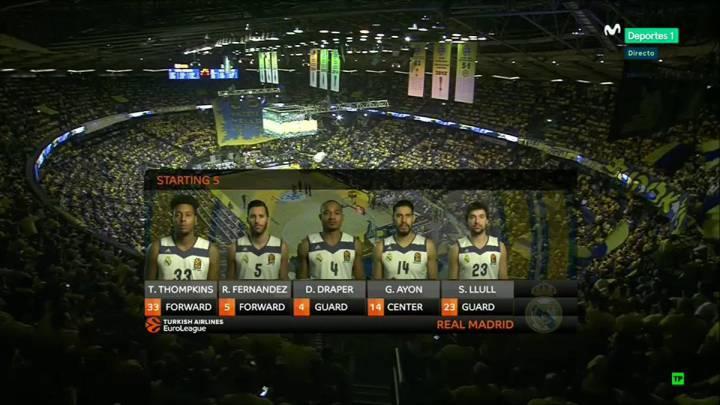 El Maccabi-Real Madrid perdió la señal de televisión en el primer cuarto