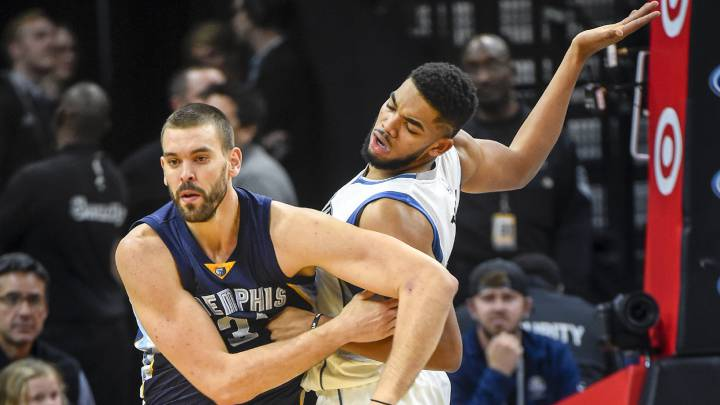 Towns (31), imparable en el duelo Ricky-Marc; Wolves-Grizzlies