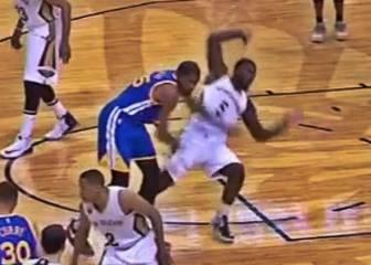 ¡Durant pierde los nervios con Stephenson! Al suelo y técnica