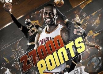 LeBron supera a Kobe: más joven en llegar a los 27.000 puntos