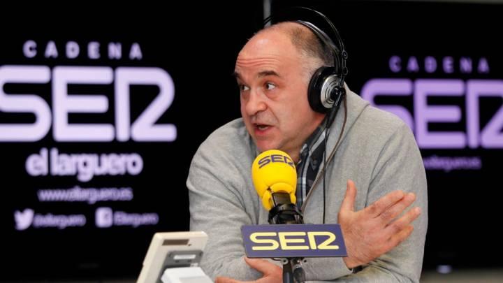 Pablo Laso, entrenador del Real Madrid, durante la entrevista en El Larguero de la Cadena SER.