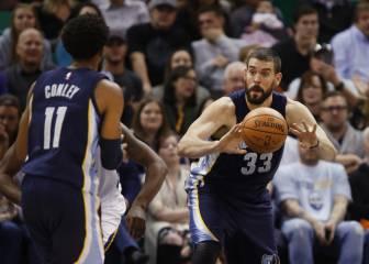 Marc 'juega' con el triple-doble; los Grizzlies, ¡69 puntos en 24 minutos! y 5 seguidas