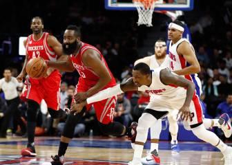 Tercer triunfo consecutivo de los Rockets de Harden (28+8+11)