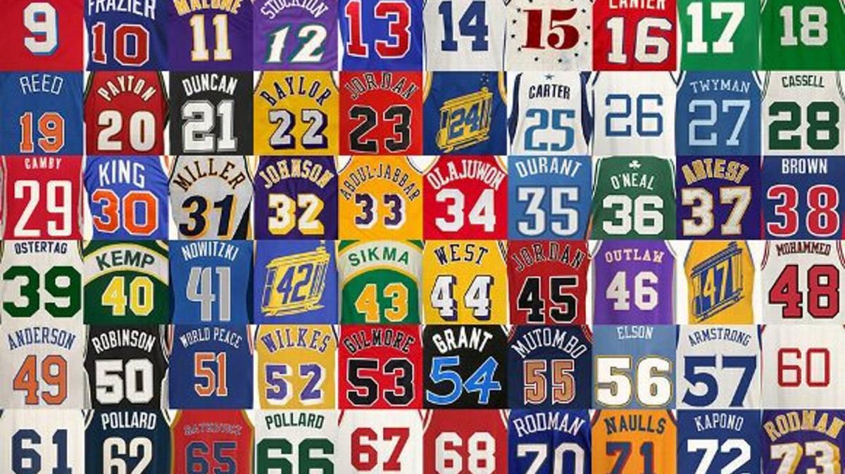 Las historias de los números más famosos de la NBA