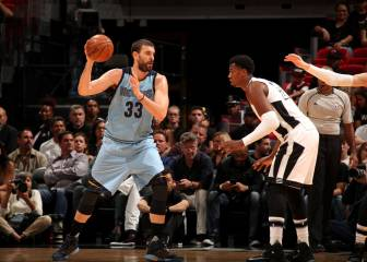 Marc Gasol se exhibe (28) y los Grizzlies se vengan de los Heat