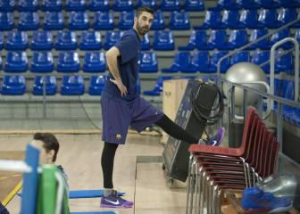 Navarro viajó con el Barça a Estambul y podría jugar hoy