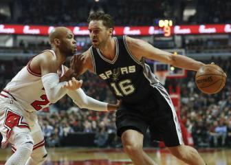 Los Spurs pierden el récord en el regreso de Pau a Chicago