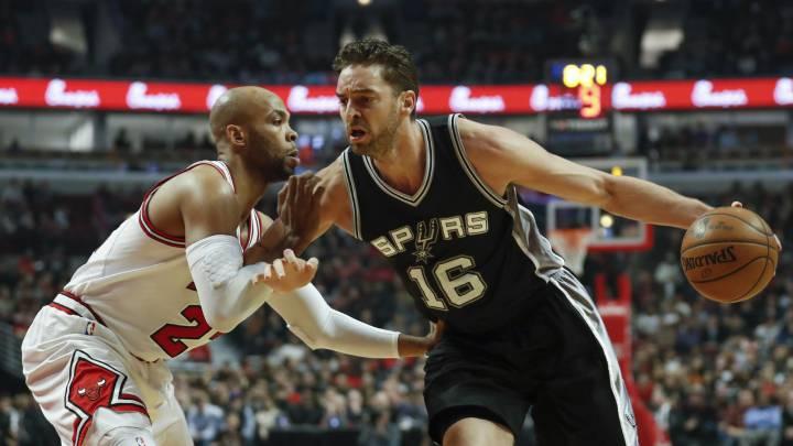 Los Spurs pierden el récord en el regreso de Pau Gasol a Chicago