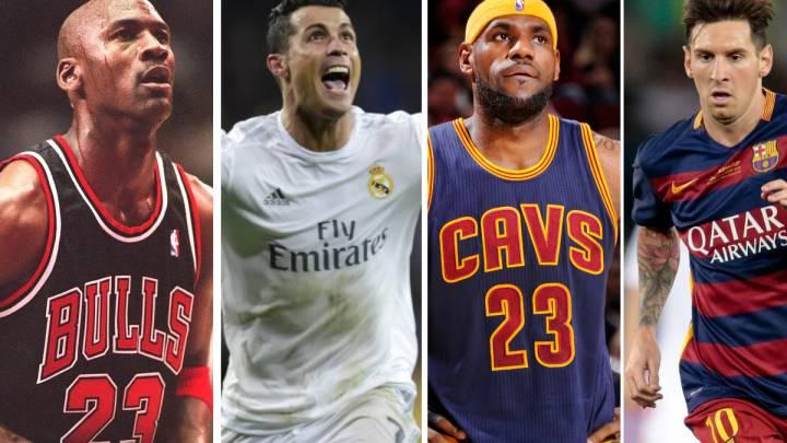 Jordan, Cristiano, LeBron y Messi, en la lista de Forbes