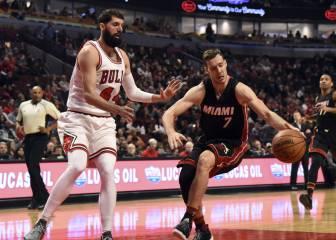 Chicago Bulls y Miami Heat, a contracorriente: sólo 6 triples