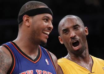 Carmelo le pide consejo a Kobe de cómo tratar con Jackson