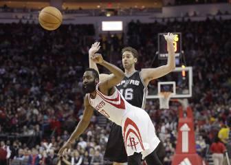 Remontada de Pau (10+10) y los Spurs: fin a la racha de Harden