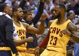 LeBron James (34+12+7) se pone serio ante la amenaza del futuro