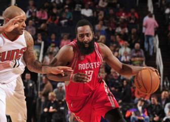 Otro carrusel de triples para Harden (27+14) y los Rockets