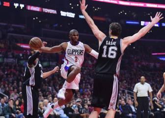 Pau (21+9) y los Spurs colisionan con unos Clippers gafados