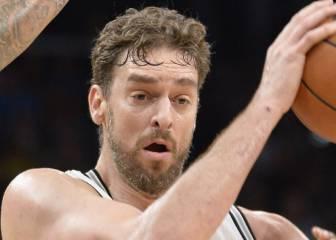 Ginóbili rescata a los Spurs; nuevo doble-doble de Gasol