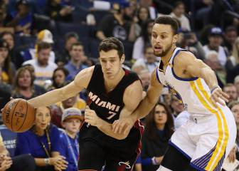 Los Warriors sestean pero ganan a los Heat; Curry, 24+8+9