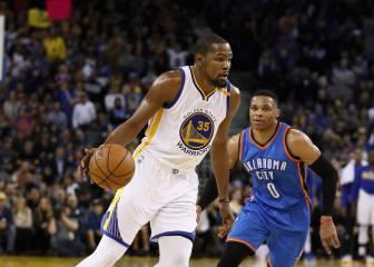 Kevin Durant, sin piedad vs OKC: ¡40 puntazos contra Westbrook!