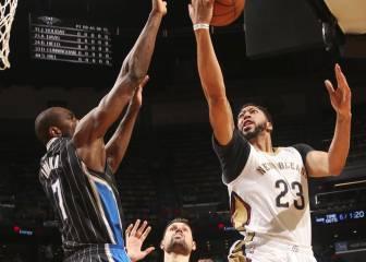 Orlando sucumbe ante los Pelicans de Anthony Davis (21+14)