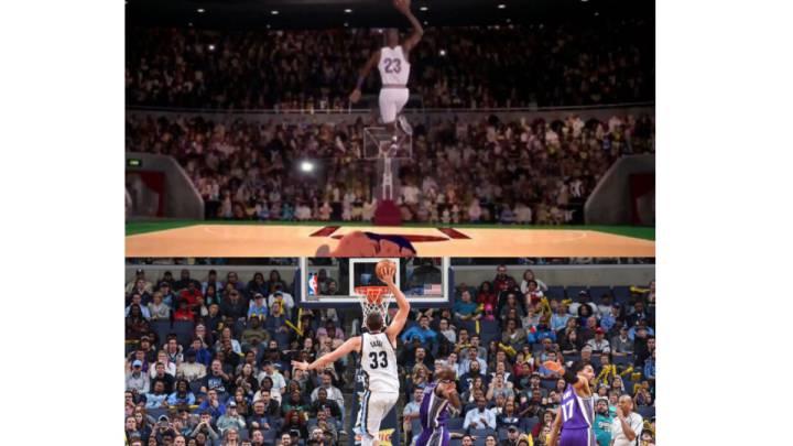 Marc y su mate a lo Michael Jordan: \
