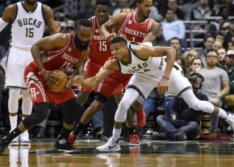 Antetokounmpo se impone a Harden: los Rockets, a la baja