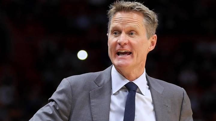 Steve Kerr, entrenador de Golden State Warriors.