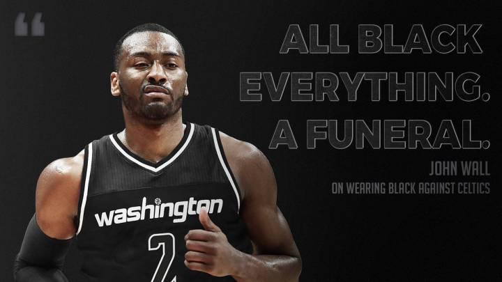 Los Wizards, de negro ante los Celtics: \