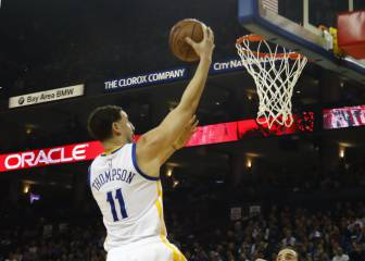 Klay Thompson ganó el partido para Warriors con Green expulsado